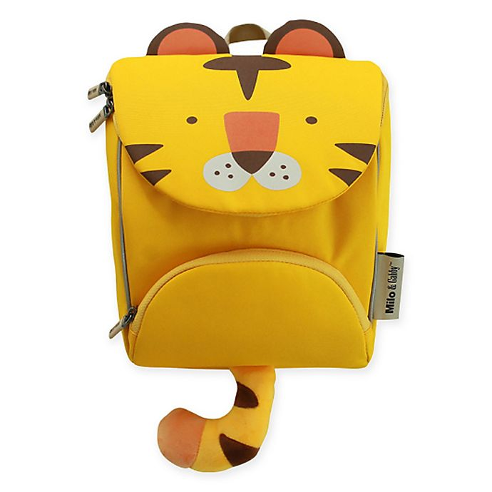 Alternate image 1 for Milo & Gabby Tom Animal Shaped Backpack with Safety Strap in Yellow