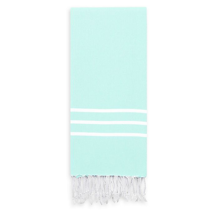 Alternate image 1 for Linum Home Textiles Alara Beach Towel in Aqua