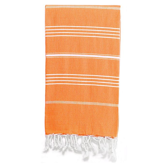 Alternate image 1 for Linum Home Textiles Lucky Pestemal Beach Towel in Dark Orange