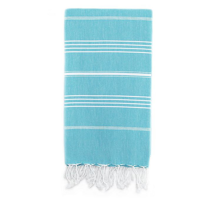 Alternate image 1 for Linum Home Textiles Lucky Pestemal Beach Towel in Turquoise