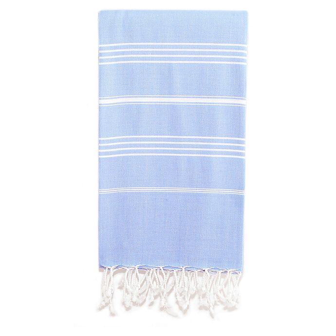 Alternate image 1 for Linum Home Textiles Lucky Pestemal Beach Towel in Sky Blue
