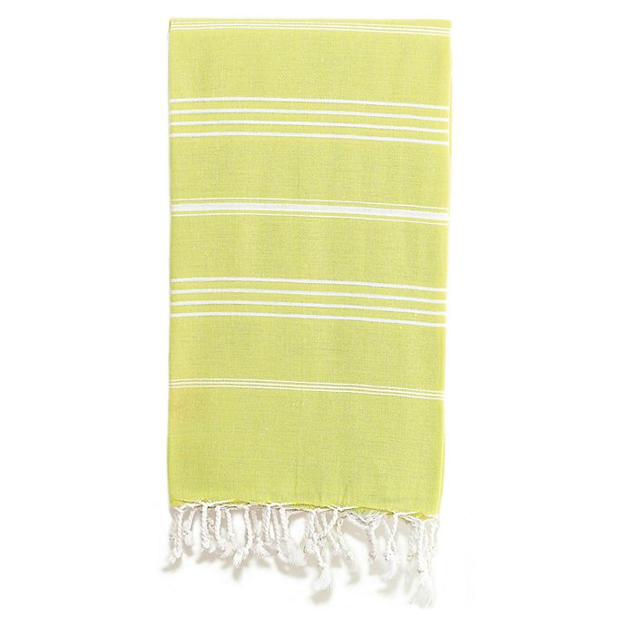 Alternate image 1 for Linum Home Textiles Lucky Pestemal Beach Towel in Lime Green