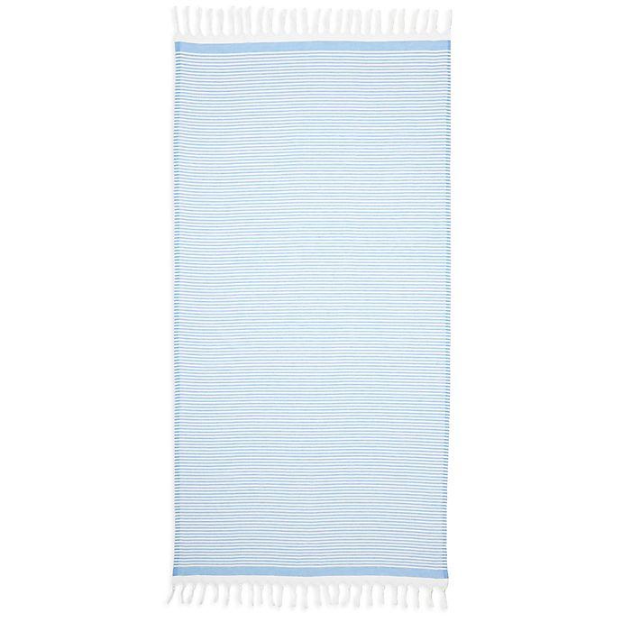 Alternate image 1 for Linum Home Textiles Soft Stripes Pestemal Beach Towel