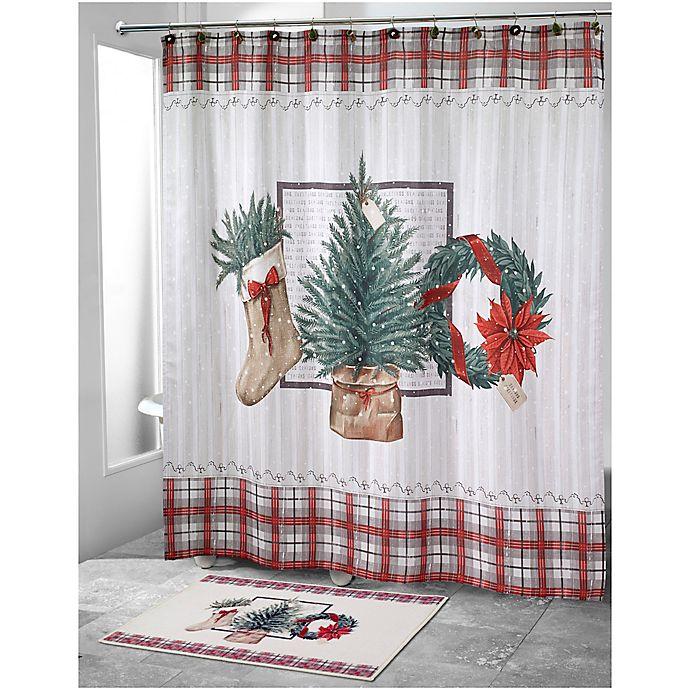 Christmas Shower Curtains Bed Bath And Beyond.Avanti Farmhouse Holiday Shower Curtain