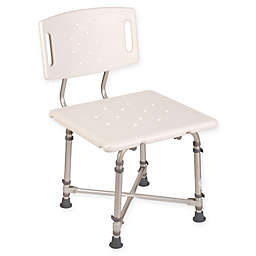 Health Smart Heavy Duty Bariatric Bath Chair with Removable Back in White