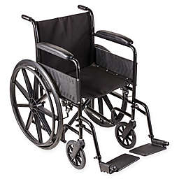 DMI Standard Wheelchair with Fixed Armrests in Black