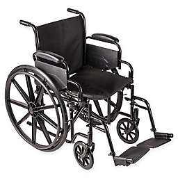 DMI Standard Wheelchair with Removable Armrests in Black