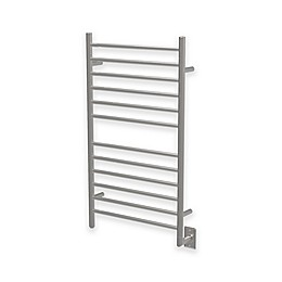 Amba Radiant Wall Mount Plug-In Towel Warmer with 12 Straight Bars in Stainless Steel