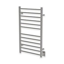 Amba Radiant Wall Mount Towel Warmer with 12 Square Bars in Brushed Stainless Steel