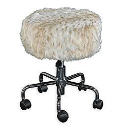 Vanity stool with wheels bed bath beyond - Bathroom vanity chair with casters ...