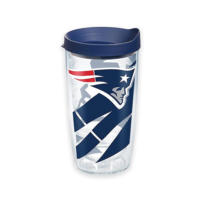 Alternate image 1 for Tervis® NFL New England Patriots 16 oz. Wrap Tumbler with Lid