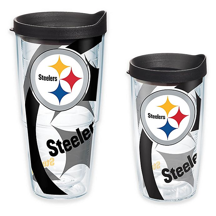 Alternate image 1 for Tervis® NFL Pittsburgh Steelers Wrap Tumbler with Lid