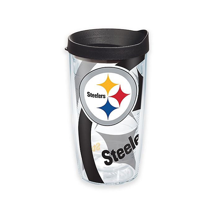 Alternate image 1 for Tervis® NFL Pittsburgh Steelers 16 oz. Wrap Tumbler with Lid