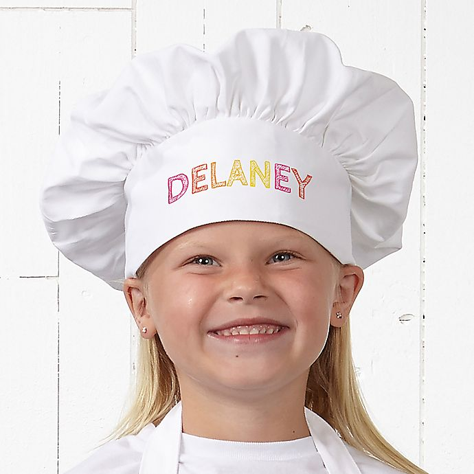 Alternate image 1 for Stencil Name Youth Chef Hat
