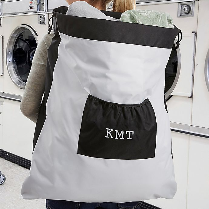 Alternate image 1 for Embroidered Monogram Laundry Bag
