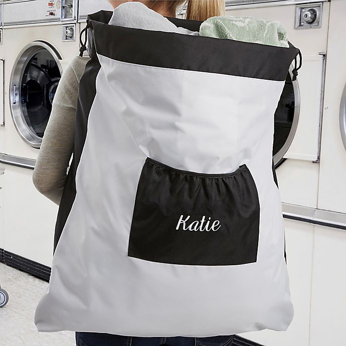 Alternate image 1 for Embroidered Name Laundry Bag