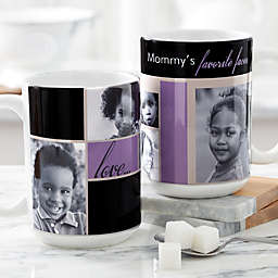 My Favorite Faces for Her 15 oz. Photo Coffee Mug