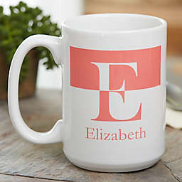 Initials 15 oz. Coffee Mug