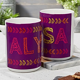 Stencil Name 15 oz. Coffee Mug