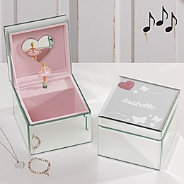 Butterfly Kisses Ballerina Musical Jewelry Box