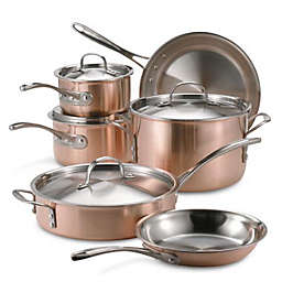 Calphalon® Tri-Ply Copper Stainless Steel 10-Piece Cookware Set