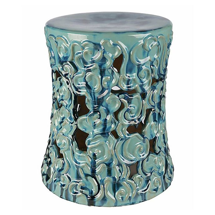 Pleasing Abbyson Living Teagan 18 Inch Ceramic Garden Stool Bed Andrewgaddart Wooden Chair Designs For Living Room Andrewgaddartcom