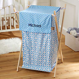 Embroidered Collapsible Laundry Hamper