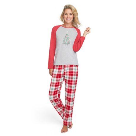ED Ellen DeGeneres Women s Holiday Pajama Set  7fd00a798