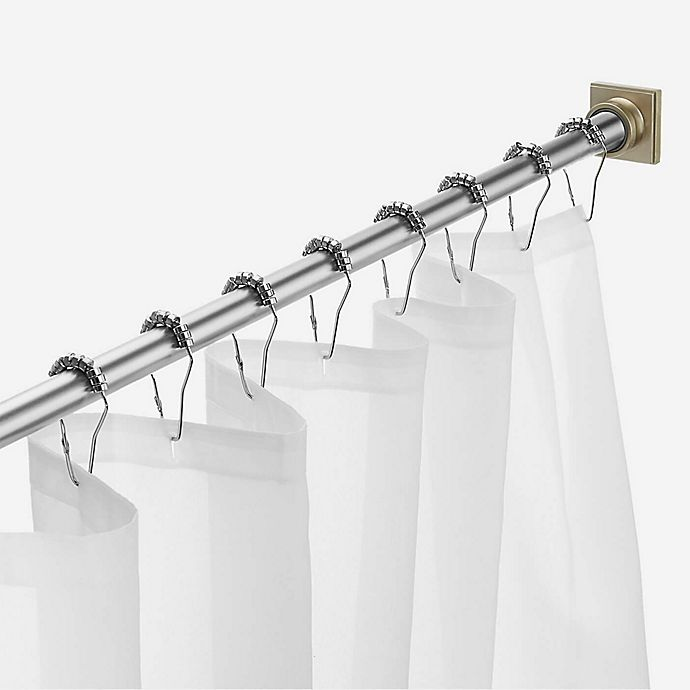 Legion 72 Inch Adjustable Tension Shower Curtain Rod in Brushed