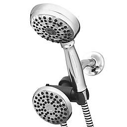 Waterpik® PowerSpray+ Dual Shower Head in Chrome