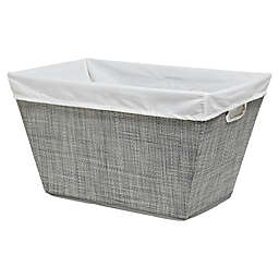Parker Fabric Laundry Basket in Grey