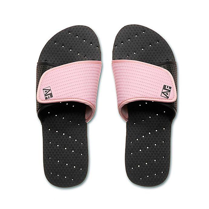 Alternate image 1 for AquaFlops Women's Slide Shower Shoes in Black/Pink