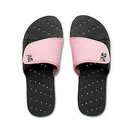 AquaFlops Women's Slide Shower Shoes in Black/Pink