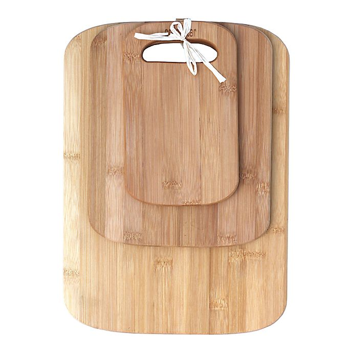Oceanstar 3 Piece Bamboo Cutting Board Set Bed Bath And Beyond Canada