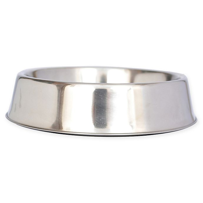 Alternate image 1 for ICONIC PET Metallic Anti-Ant 1-Cup Pet Bowls (Set of 2)