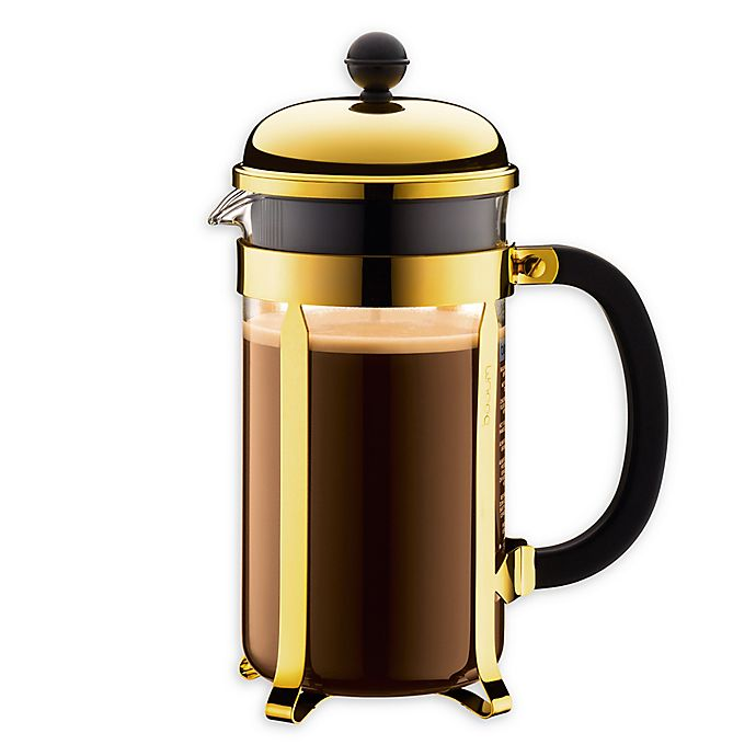 Alternate image 1 for Bodum® Chamboard® 34 oz. French Press in Gold