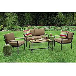 Destination Summer Metro 4-Piece Steel and Resin Outdoor Conversation Set
