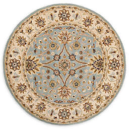 Safavieh Antiquity Olga 6' Round Handcrafted Area Rug in Light Blue