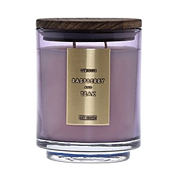DW Home Raspberry and Teak Wood-Accent 19 oz. Jar Candle in Pink