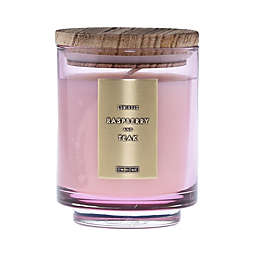 DW Home Raspberry and Teak Wood-Accent 10 oz. Jar Candle in Pink