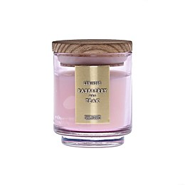 DW Home Raspberry and Teak Wood-Accent 4 oz. Jar Candle in Pink