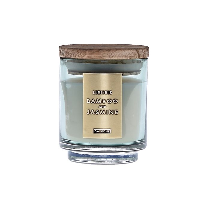Alternate image 1 for DW Home Bamboo and Jasmine Wood-Accent 4 oz. Jar Candle in Green