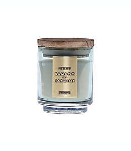 Vela en vaso DW Home aroma bambú y jazmín en verde, 113.39 g (4 oz)