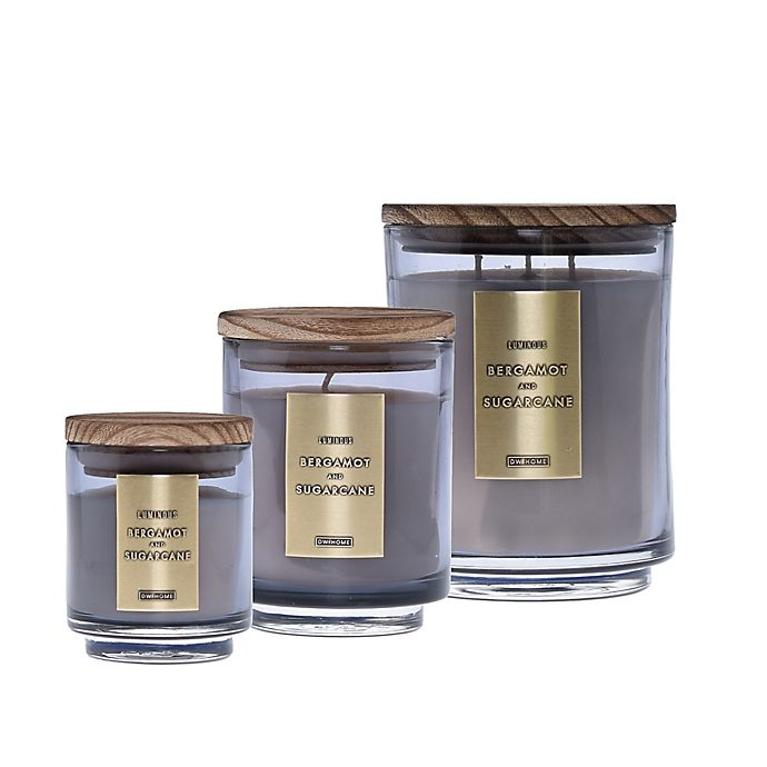 Alternate image 1 for DW Home Bergamot and Sugarcane Wood-Accent Jar Candle Collection