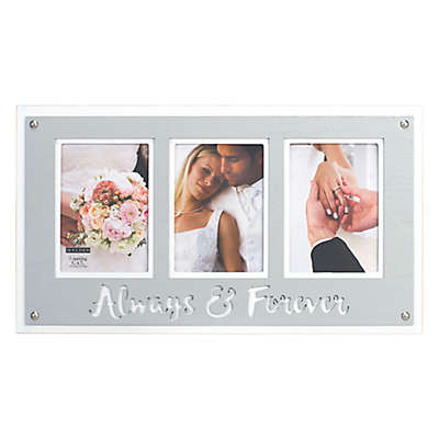 Malden® 3-Photo 5-Inch x 7-Inch Always and Forever Wedding Frame