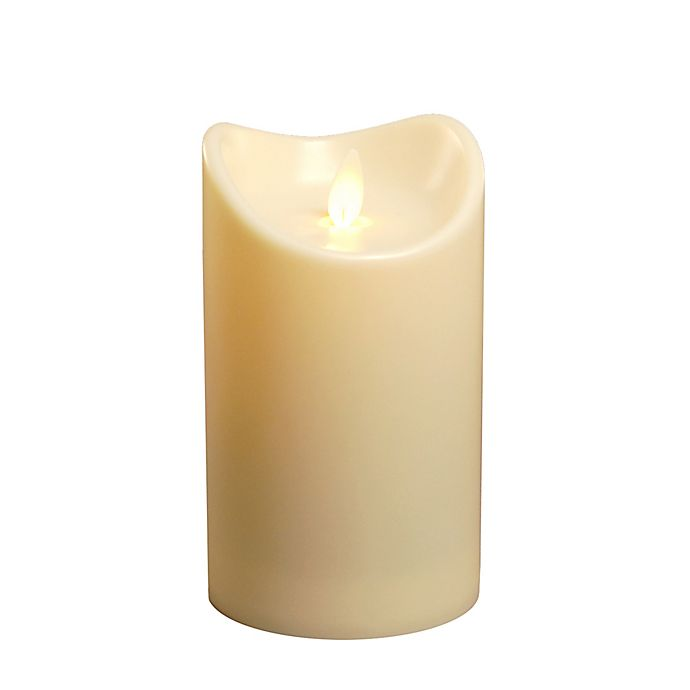 Alternate image 1 for Battery-Operated 5-Inch LED Pillar Candle in Cream