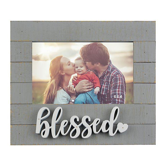 Alternate image 1 for 6-Inch x 4-Inch Blessed Sentiment Frame