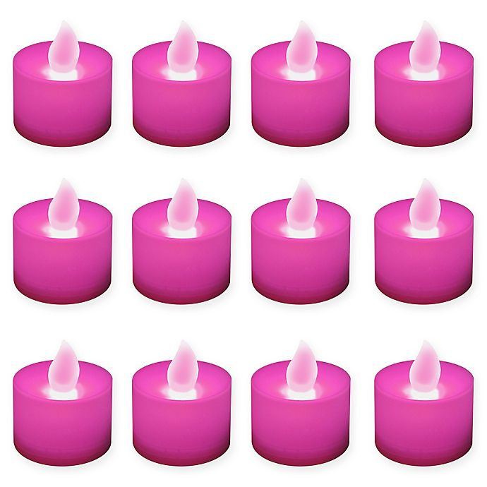Alternate image 1 for LumaBase® 12-Count LED Tea Light Candles