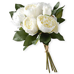 National Tree Company 12-Inch Artificial Peony Arrangement in White