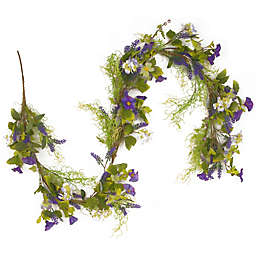 National Tree Company 72-Inch Artificial Flower Garland in Purple